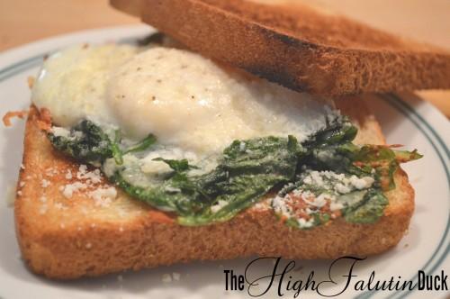 eggs florentine sandwich