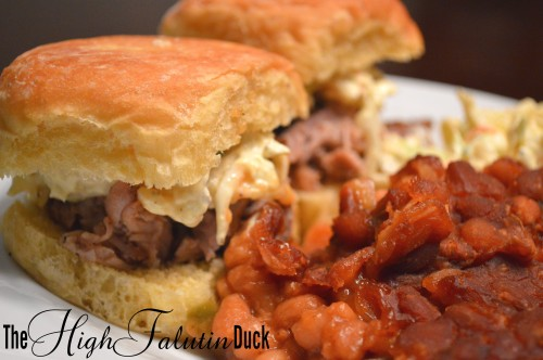 Sliders and Baked Beans