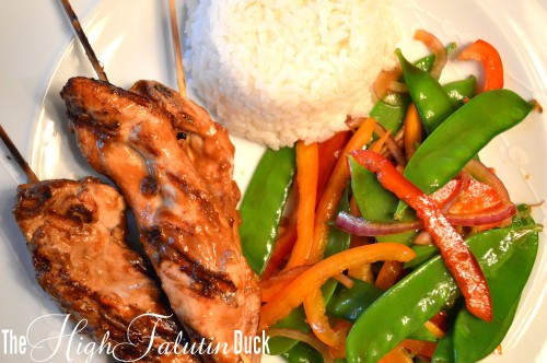 Chicken Satay with Snow Pea Salad