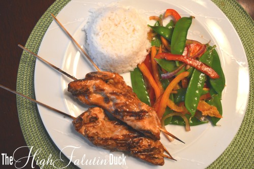 Chicken Satay with Snow Pea Salad2
